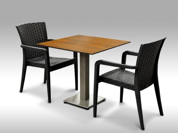 Jídelní sestava Almeria + 2 židle Valencia antracitová