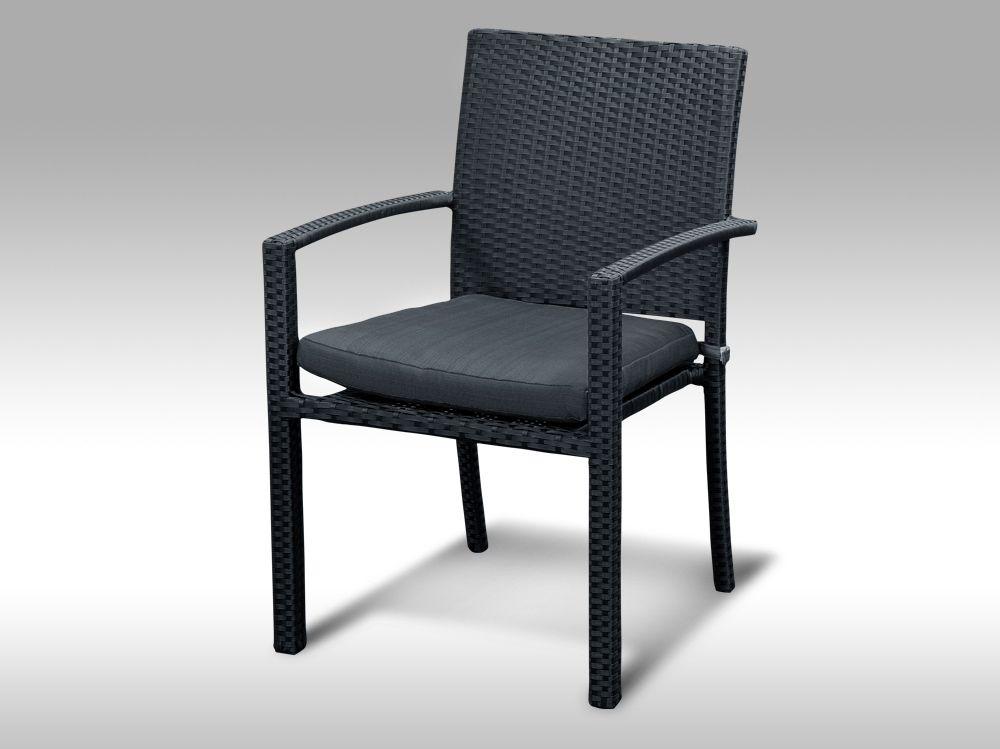 Židle z umělého ratanu Armino černá