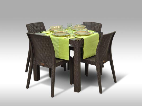 Jídelní sestava Barcelona + 4 židle Benidorm