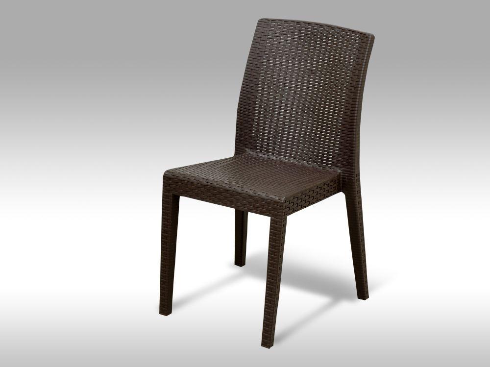 Zahradní plastová židle Benidorm hnědá