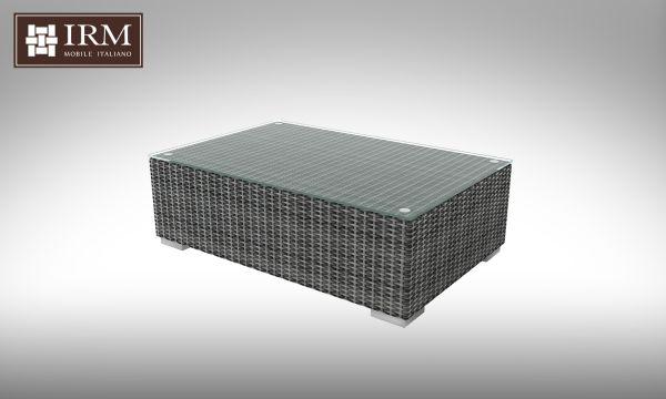 Konferenční stolek z umělého ratanu Brillante šedý