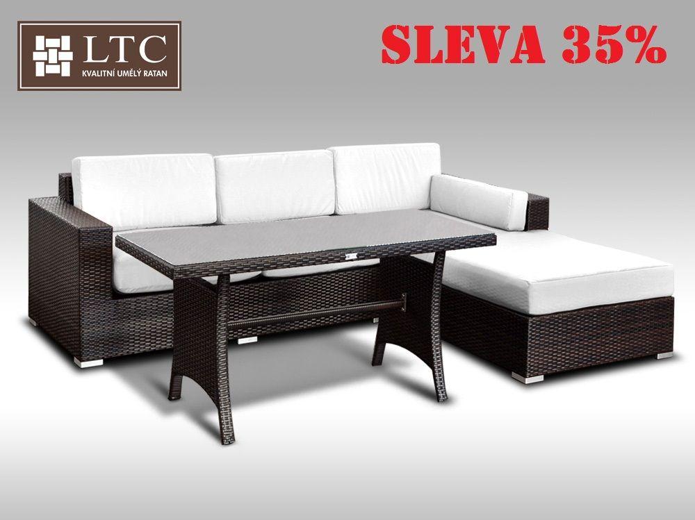 Luxusní sedací souprava z umělého ratanu Conchetta VI 2v1 2,48x1,9m