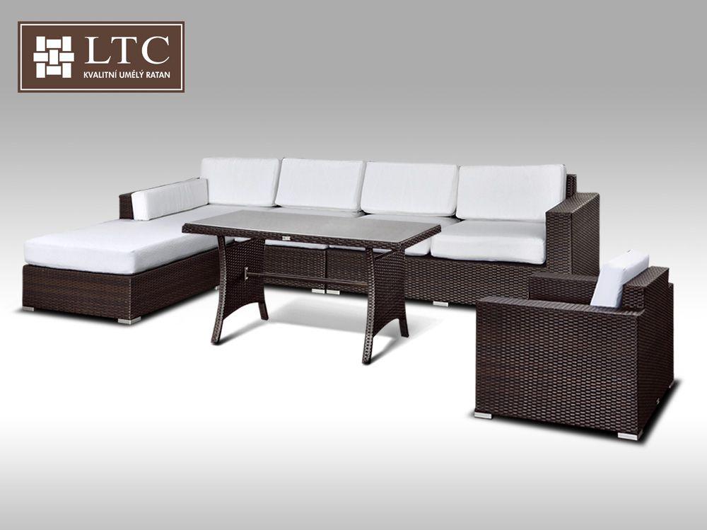 Luxusní sedací souprava z umělého ratanu Conchetta XVIII 2v1 3,22x1,9m