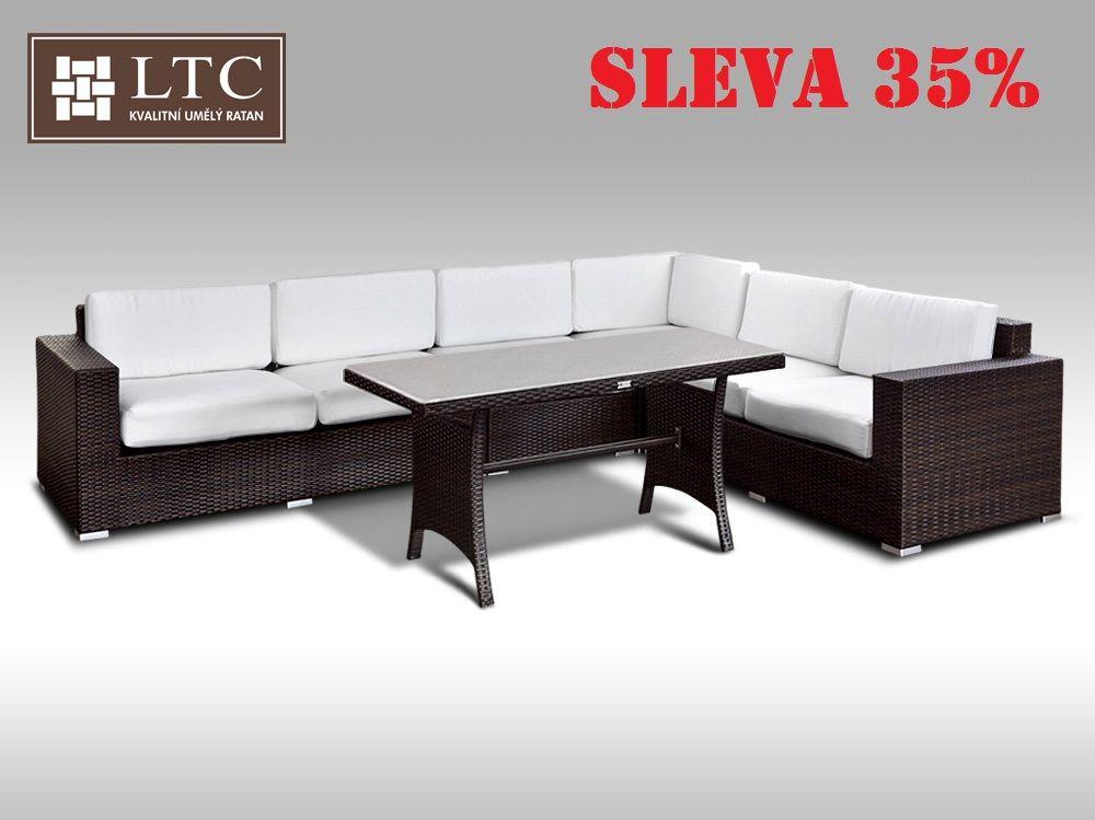 Luxusní sedací souprava z umělého ratanu Conchetta XXIII 2v1 3,16x2,42m
