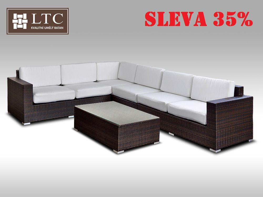 Luxusní sedací souprava z umělého ratanu Conchetta XXII 2,42x3,16m