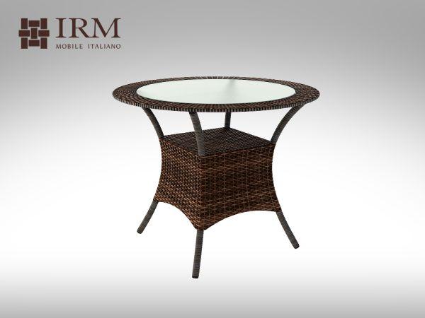 Umělý ratan - stůl Capriolo 90