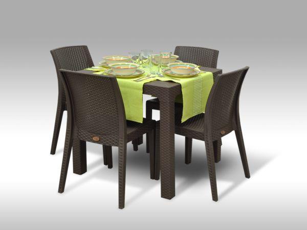 Jídelní sestava Granada + 4 židle Benidorm