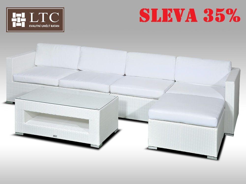 Luxusní rohová sedací souprava ALLEGRA IX bílá 4-5 osob