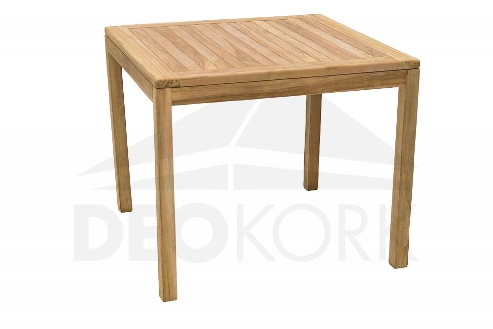 Teakový jídelní stůl Jáva 90x90 cm