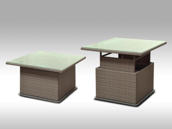 Polohovatelný stolek Lorenzo šedobéžový
