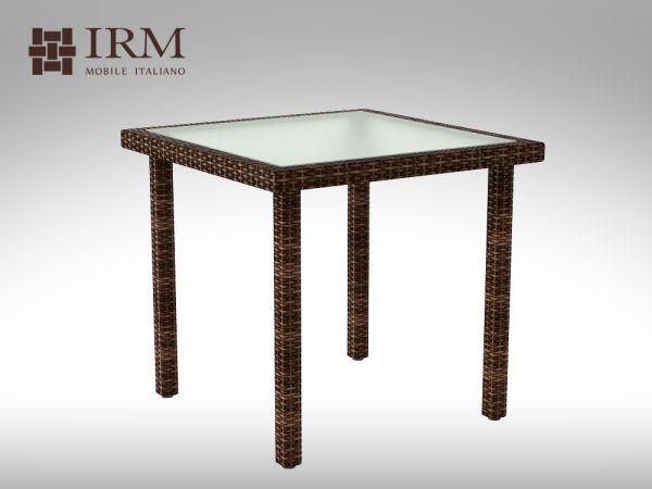 Umělý ratan - stůl Lepre 80x80cm
