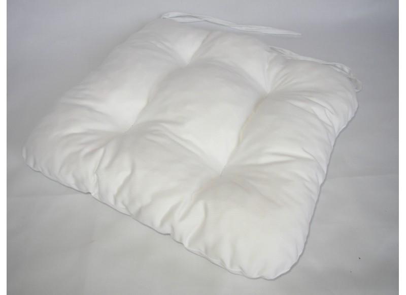 Podsedák na židli 40x40cm, barva bílá