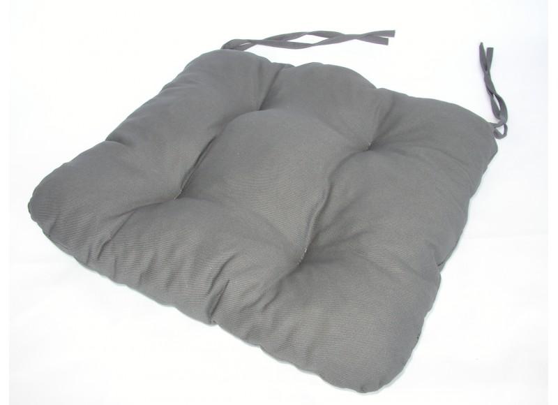 Podsedák na židli 40x40cm, barva šedá