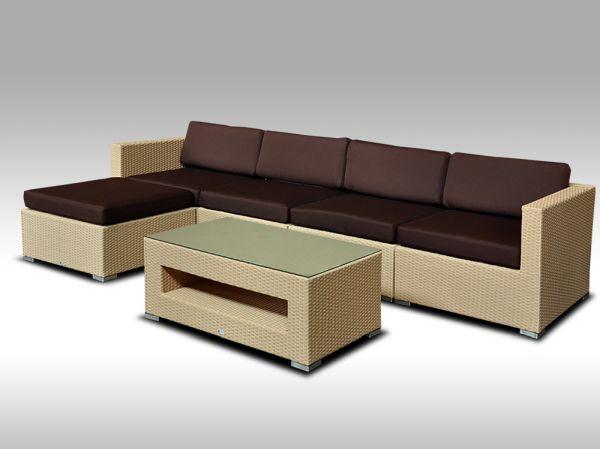 Luxusní rohová sedací souprava ALLEGRA IX písková 4-5 osob + DÁREK