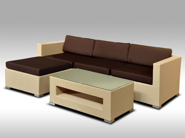 Luxusní rohová sedací souprava ALLEGRA 7 písková 3-4 osoby + DÁREK