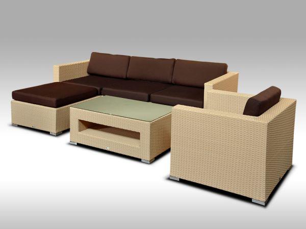 Luxusní rohová sedací souprava ALLEGRA VIII písková 4-5 osob + DÁREK