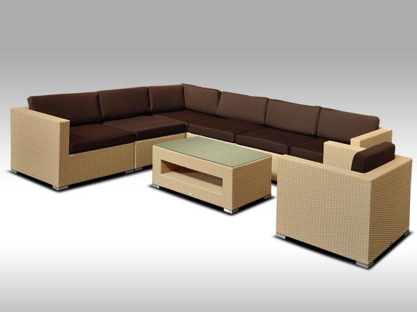 Luxusní rohová sedací souprava ALLEGRA XV písková 6 osob + DÁREK