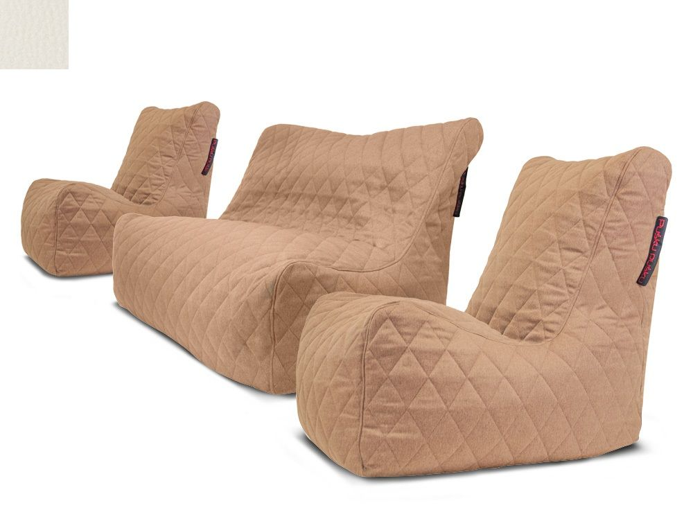 Venkovní sedací souprava Seat Quilted Beige
