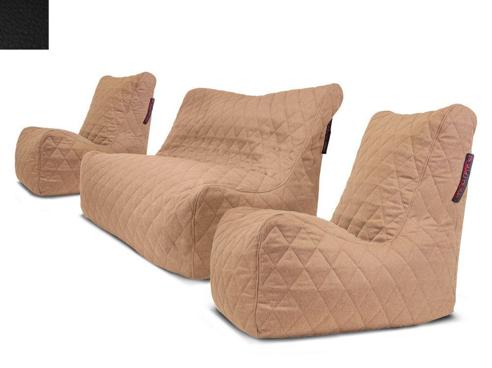 Venkovní sedací souprava Seat Quilted Black