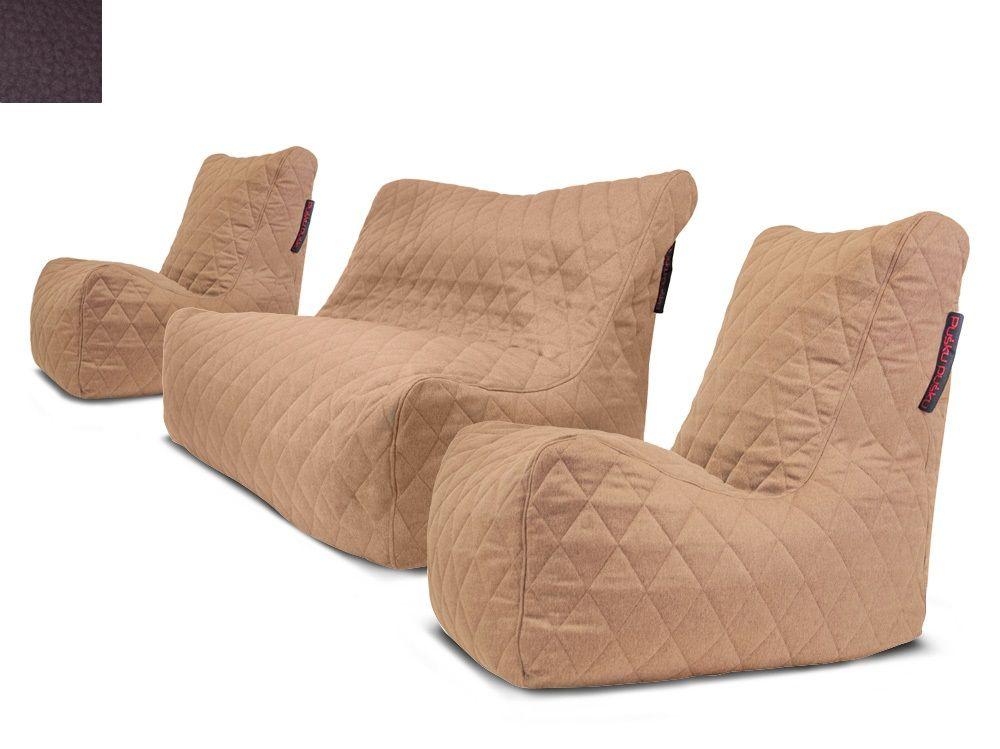 Venkovní sedací souprava Seat Quilted Brown