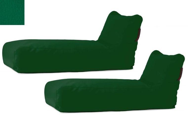 Akční set: 2x venkovní lehátko Sunbed Green