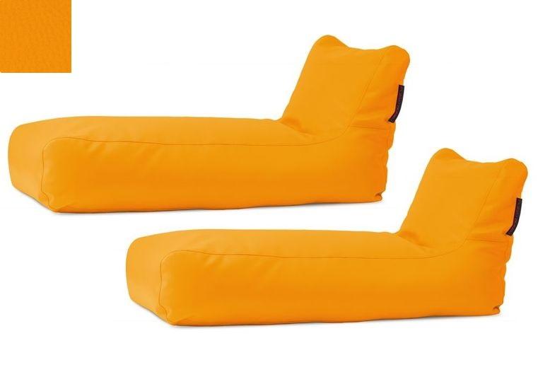 Akční set: 2x venkovní lehátko Sunbed Yellow