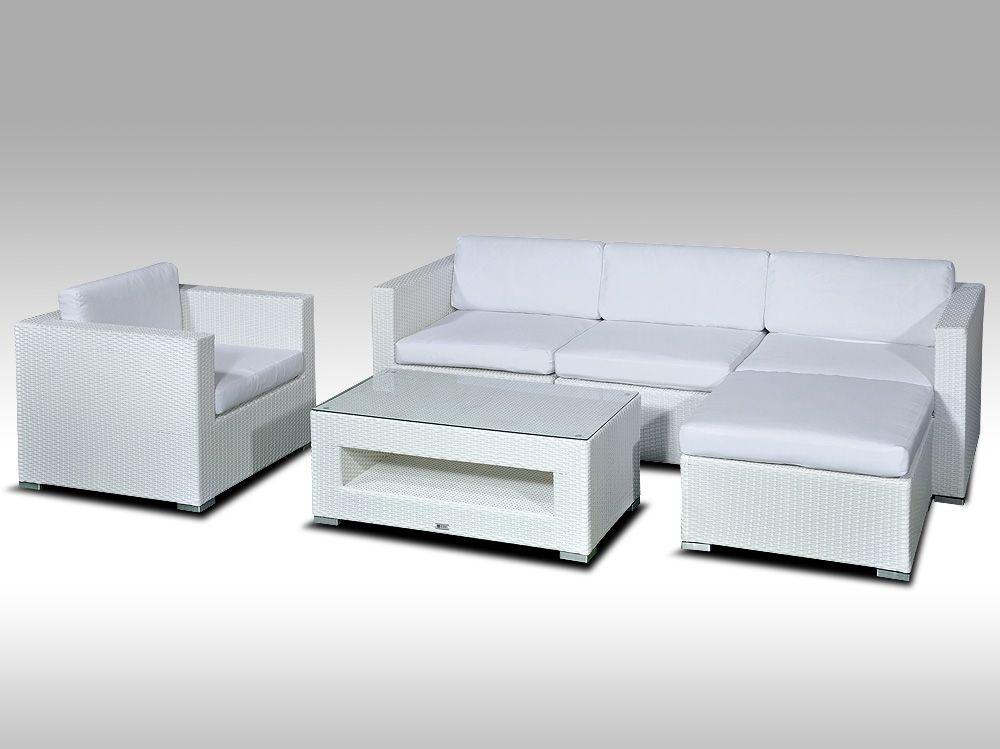 Luxusní rohová sedací souprava ALLEGRA VIII bílá 4-5 osob