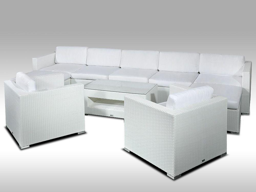 Luxusní rohová sedací souprava ALLEGRA XII bílá 7-9 osob