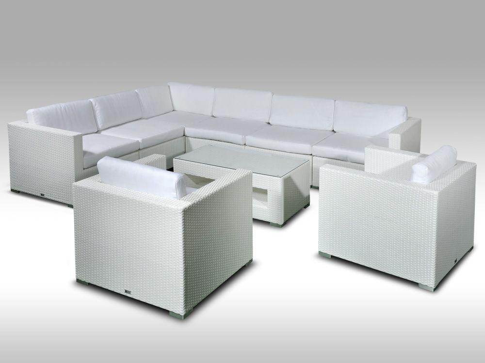 Rohová sedací souprava ALLEGRA XVI bílá 7 osob