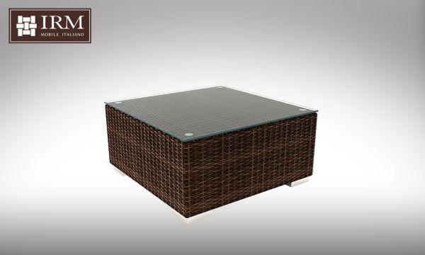 Konferenční stolek z umělého ratanu Aperto 72x72