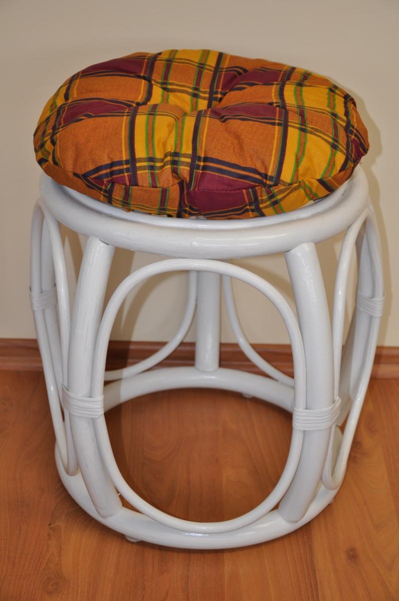 Polstr na ratanovou taburetku okrový - průměr 35 cm