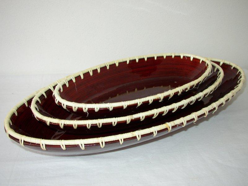 Bambusové misky set 3 kusy RED