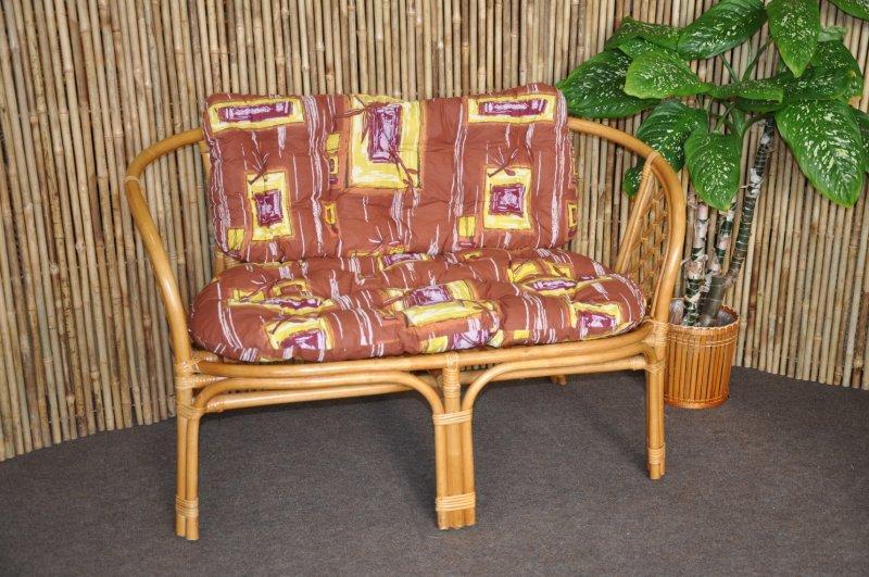 Polstr na lavici Cayman hnědý list