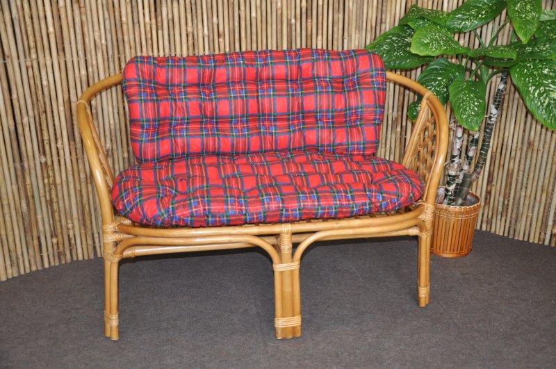 Polstr na lavici Cayman červený