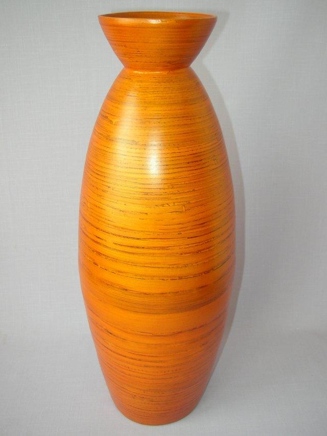 Bambusová váza antik vysoká oranžová