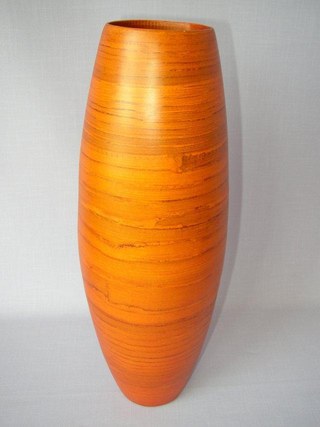 Bambusová váza vysoká oranžová