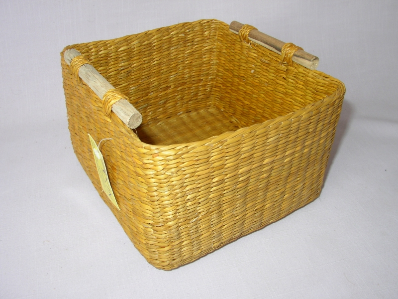 Košík mořská tráva žlutý