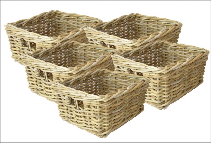 Ratanový košík - Kooboo - set 5 kusů