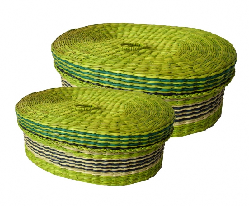 Dóza mořská tráva set 2 kusy - zelená