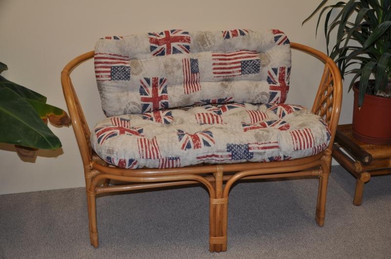 Polstr na lavici Cayman motiv vlajky