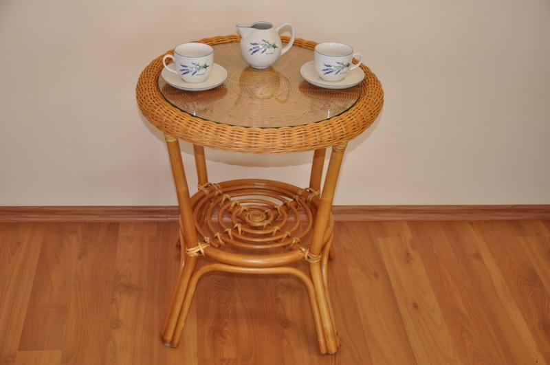 Ratanový stolek Utan medový