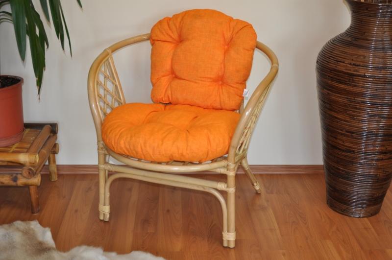 Polstr na křeslo Cayman oranžový melír