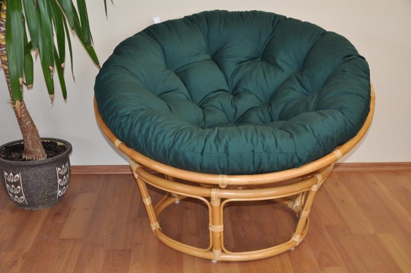 Polstr na křeslo papasan 115 cm zelený dralon