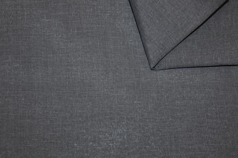 Látka Uni Living tmavě šedý melír
