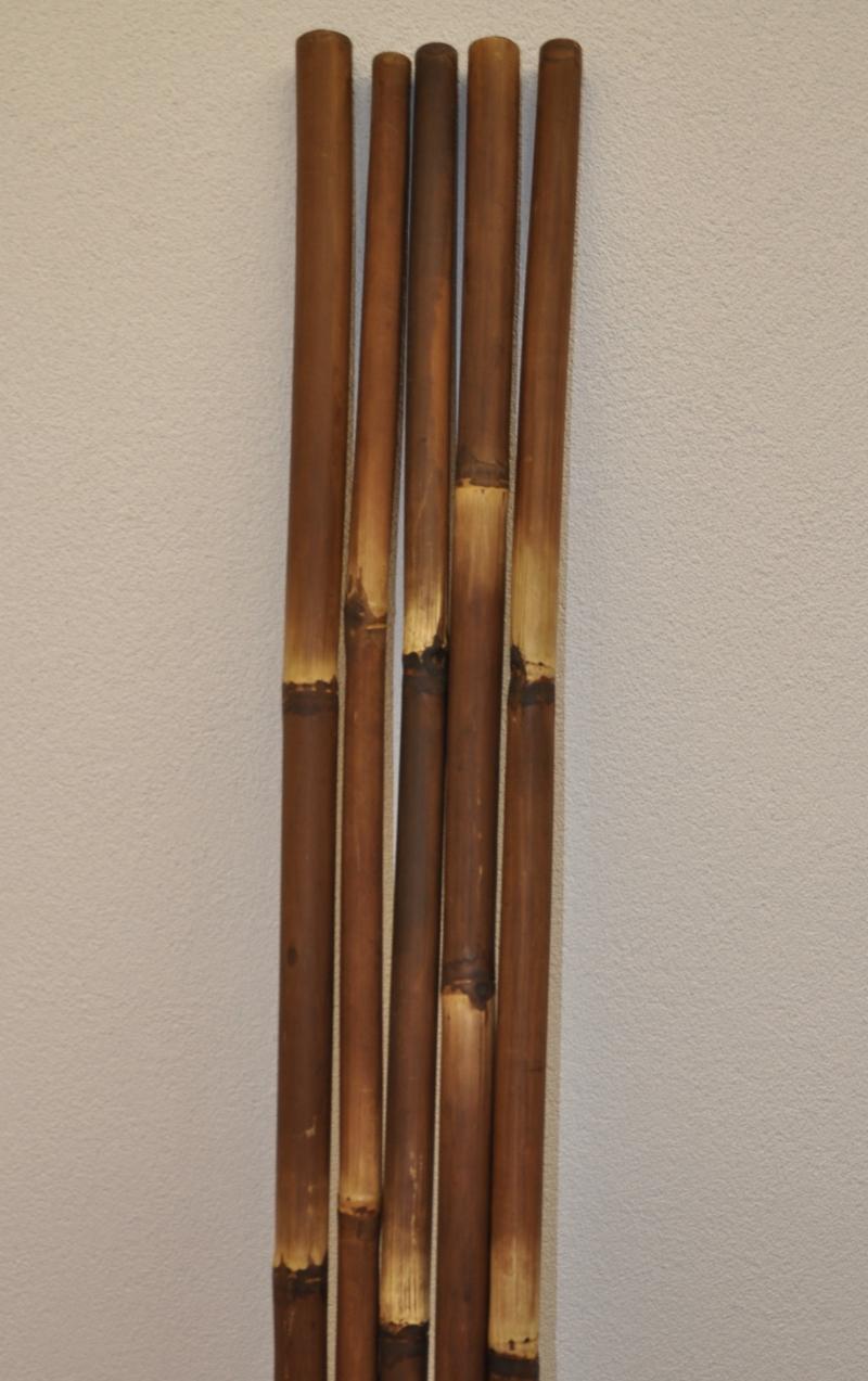 Bambusová tyč 3- 4 cm, délka 2 metry - barvená hnědá