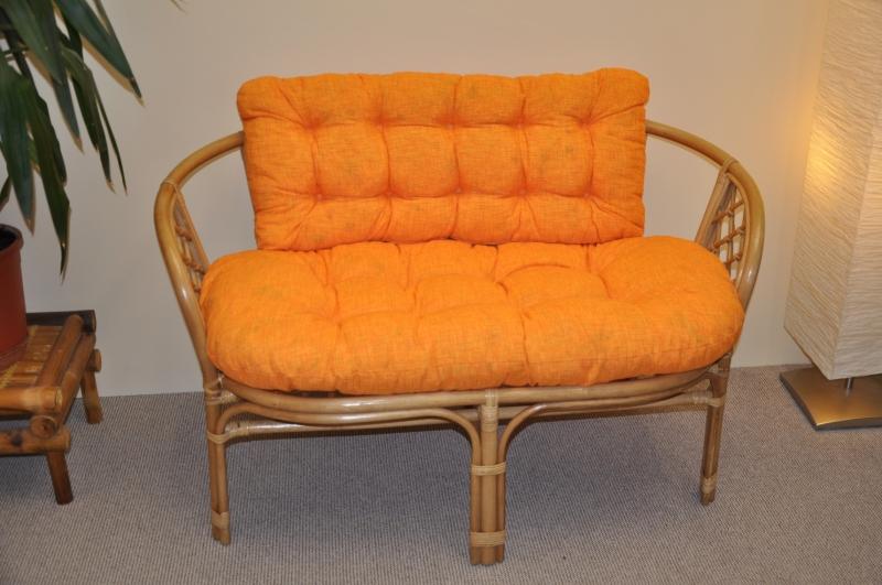 Polstr na lavici Cayman oranžový melír