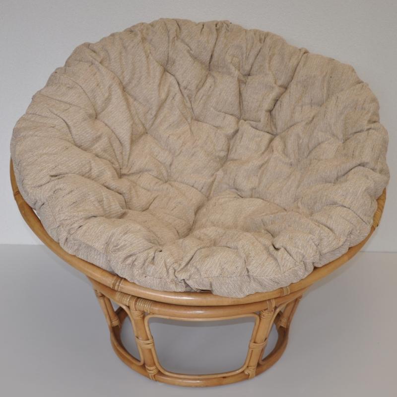 Ratanový papasan 110 cm medový polstr ebony