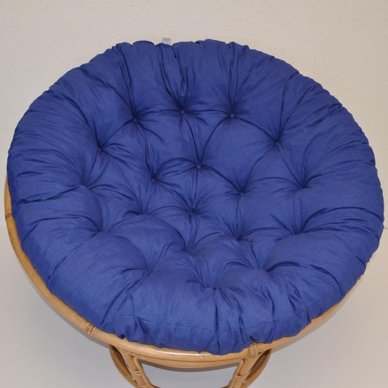 Polstr deluxe na křeslo papasan 110 cm - tmavě modrý melír