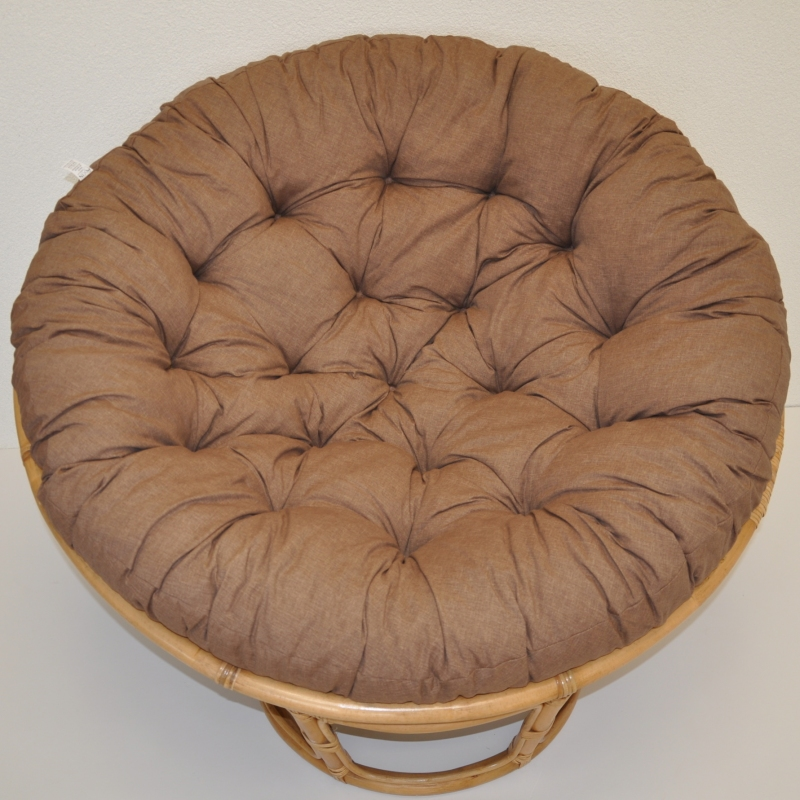 Polstr deluxe na křeslo papasan 100 cm - látka hnědý melír