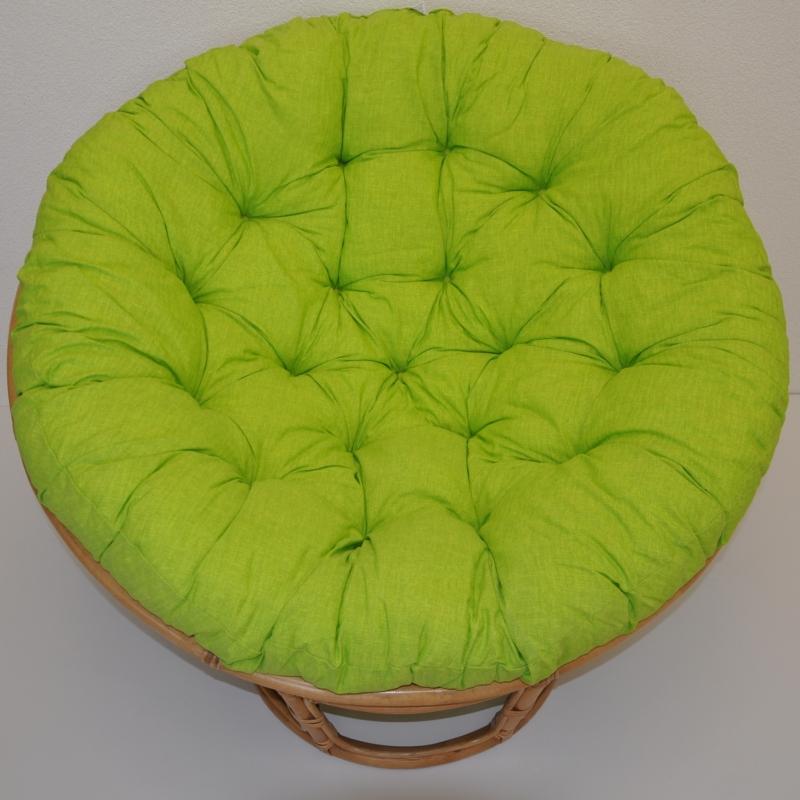 Polstr deluxe na křeslo papasan 100 cm - látka světle zelený melír